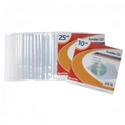 Funda cd 10uds plástico