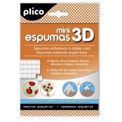 Mini espumas 3D adhesivas doble cara Plico