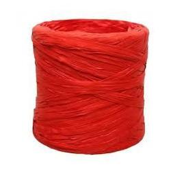 Rollo rafia 15mm x200m rojo