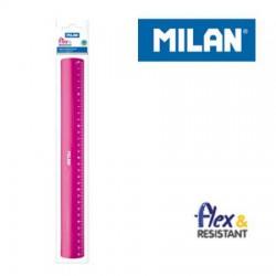 Regla 30cm rosa Milan