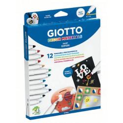 Rotuladores materiales 12col. Giotto