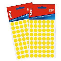Bolsa etiqueta redonda peq amarillo