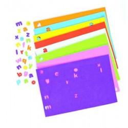 Letras foam adhesivas 8 planchas