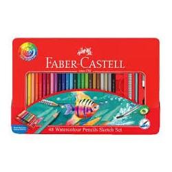 Lápiz faber acuarela 48col + accesorios Faber-Castell
