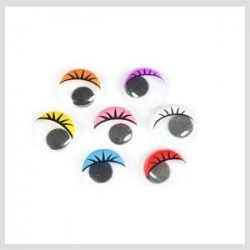 Bolsa ojos ovalados 16mm colores surtidos adhesivos
