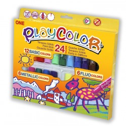 Témpera sólida 24col Playcolor