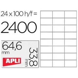 Etiqueta Apli 1263 64,6x33x8mm 100h