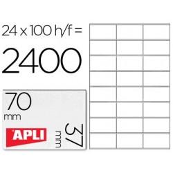 Etiqueta Apli 1273 70x37mm 100h A4