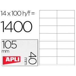 Etiqueta 105x40mm adhesiva. Apli