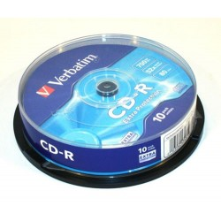 CD-R 700MB 52x 10uds. Verbatim