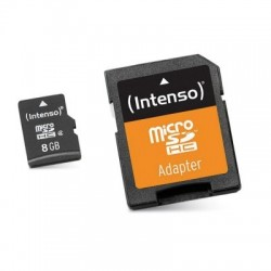 8Gb micro Sd+adap clase 10 Intenso
