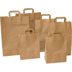 Bolsa papel 24x32x10 Kraft natural unidad