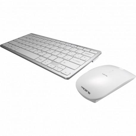 Teclado+ratón inalámbrico blanco Tacens