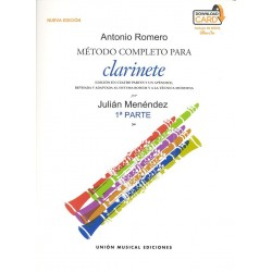 Método completo Clarinete Antonio Romero.