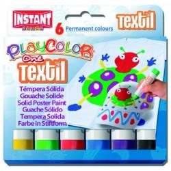 Témpera sólida textil 6colores