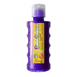 Témpera PlaycolorLiquid glitter 250ml violeta