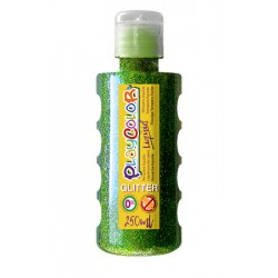 Témpera PlaycolorLiquid glitter 250ml verde