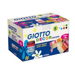 Témpera acrílica 25ml 6col Giotto Decor
