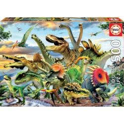 Puzzle 500 dinosaurios. Educa
