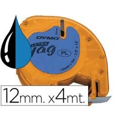 Cinta Dymo 12mm x 4mt negro/azul ul
